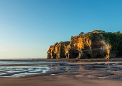 Tongaporutu three sisters by the ocean new zealand