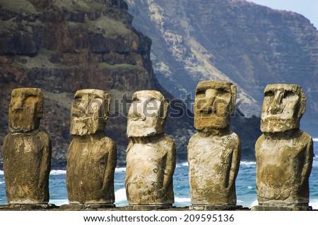 Tongariki Moais Easter Island