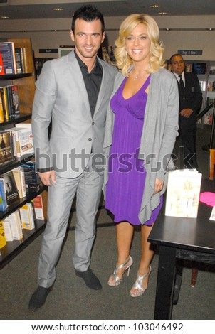 """Tony Dovolani and Kate Gosselin at an appearance signing copies of her new book """"I Just Want You To Know: Letters to My Kids on  Love, Faith and Family,"""" Barnes & Noble, Santa Monica, CA. 04-16-10"""