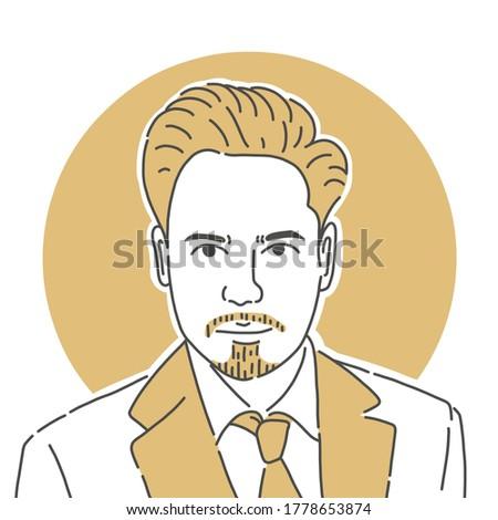 Tony Stark Illustration Minimalist Line Art Stock photo ©