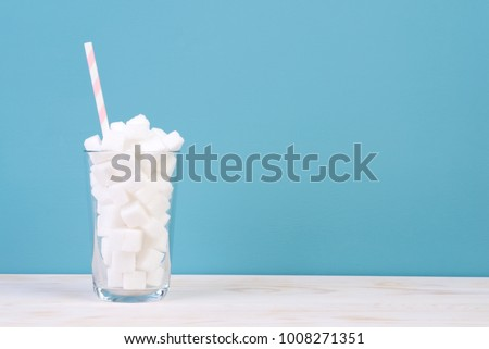 Too much sugar in drinks concept #1008271351