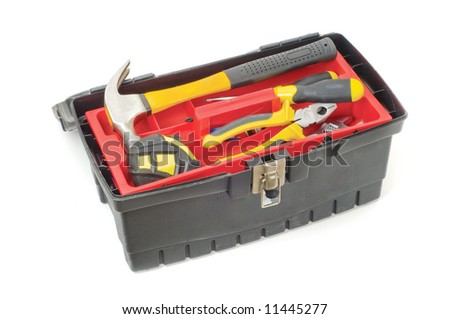Tool box isolated on a white