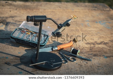 Tool for fly tying. Fly fishing