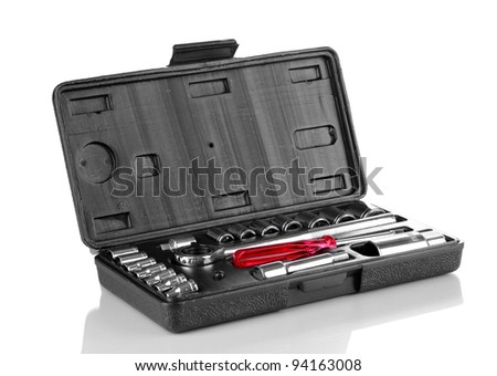 Tool kit isolated on white