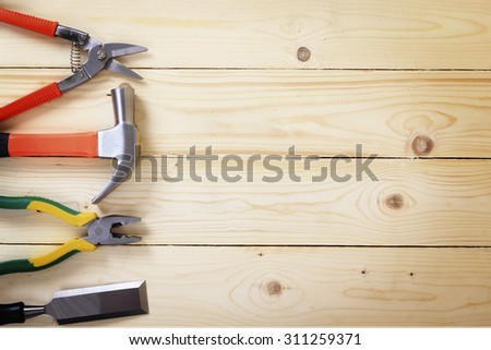 tool renovation on wood #311259371