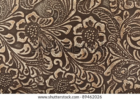 Tooled Leather Patterns Tooled Leather Floral Pattern
