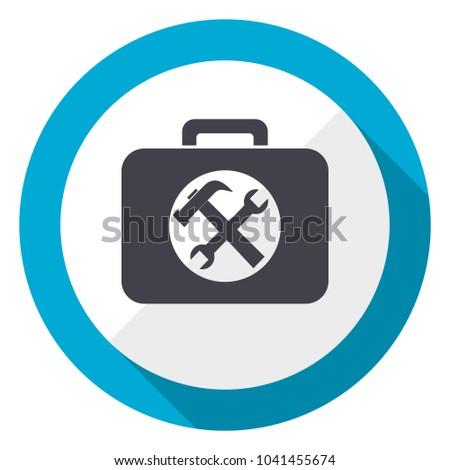 Toolkit blue flat design web icon