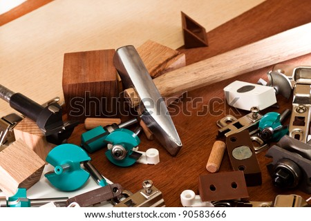 Tools and equipment for furniture assembly stock photo for Online furniture design tool