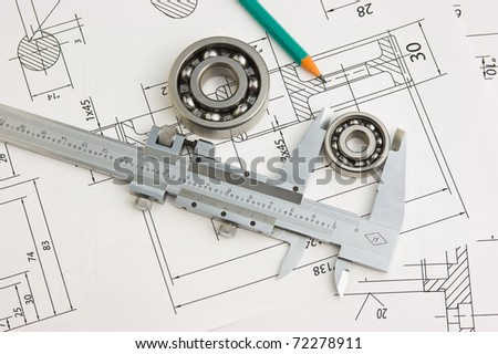 Indastrial drawing detail and several… Stock Photo 76881508
