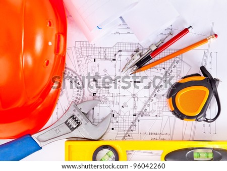 tools are located on the drawings, engineering background