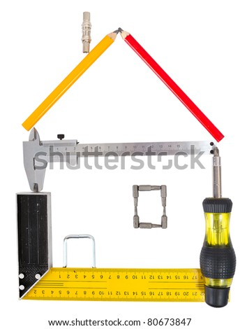 Tools collection isolated on white