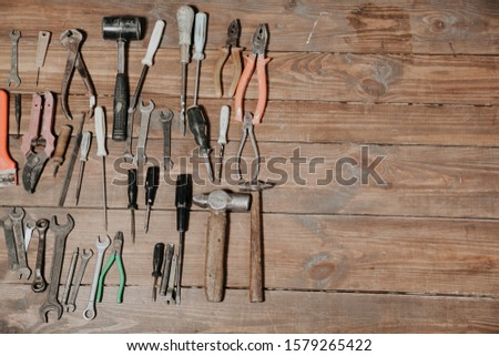 tools for repair knives hammers keys pliers #1579265422