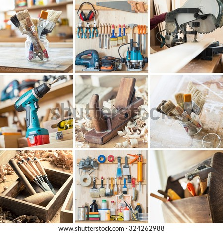 Tools for woodwork, carpentry and other crafts
