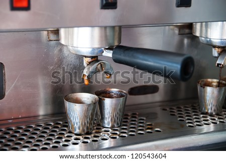 Tools of the coffee sold in stores