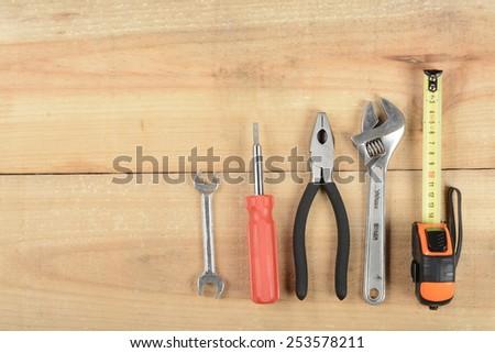 Tools on wood #253578211