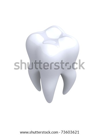 Tooth. 3d illustration - stock photo