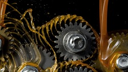 Tooth gear wheel with oil splashes, freeze motion, lubrication concept