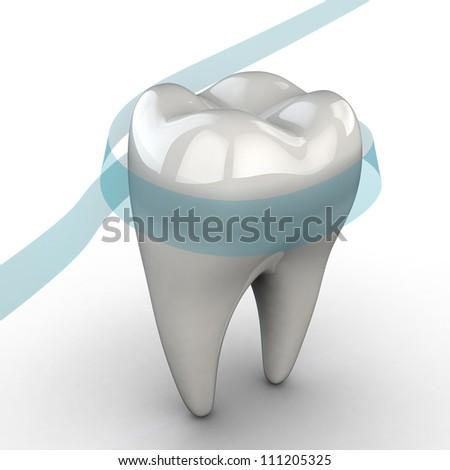 Tooth. Illustration of stomatology