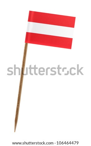 Tooth pick wit a small paper flag of Austria