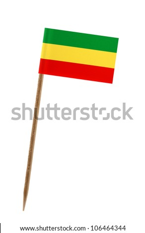 Tooth pick wit a small paper flag of Ethiopia