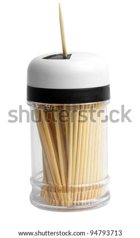 tooth picks box isolated on white