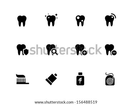 Tooth teeth icons on white background See also vector version