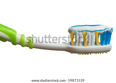 Toothbrush and toothpaste for dental teeth hygiene