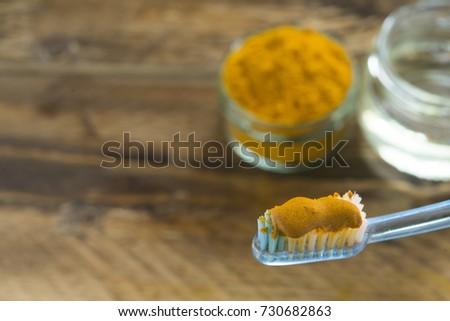 Shutterstock Toothpaste (coconut oil and curcuma)