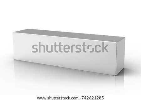 Toothpaste package mockup, blank white tube box in 3d render Foto stock ©