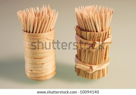 toothpicks - stock photo