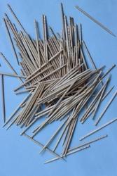 Toothpicks isolated on blue background