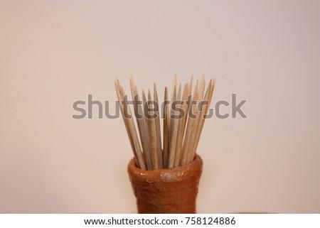 Toothpicks, wood, pick #758124886
