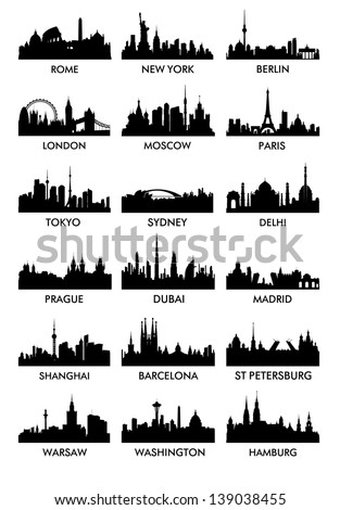 top city silhouette vector