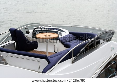 top deck in luxury yacht, Rest place.