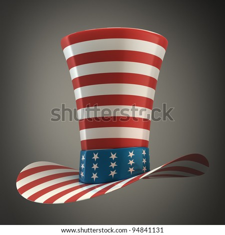 TOP hat of usa High resolution 3D