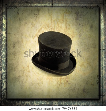 Top hat with grunge textures