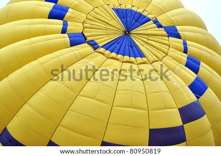 Top of a hot air balloon being inflated
