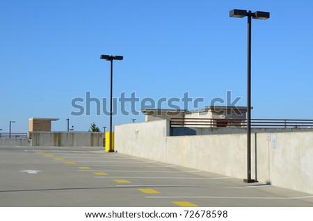 Top of a parking deck
