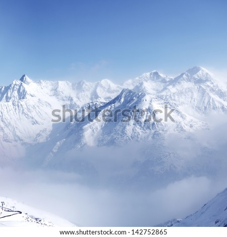 top of alps in sky #142752865