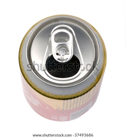 Top of an open can - stock photo