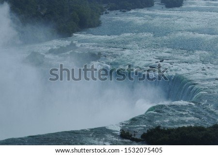 Top of Horseshoe Falls Niagara Falls