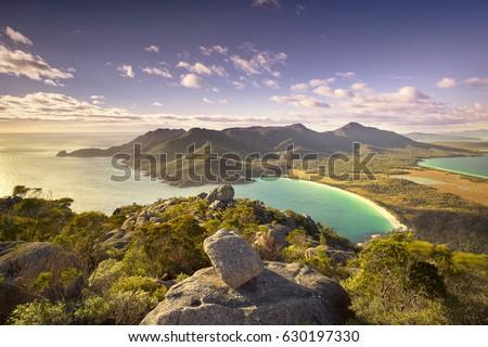 Top of Mt Amos over looking Wineglass Bay, Tasmania
