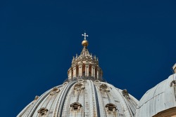top of the dome of St. Peter's Basilica in the Vatican