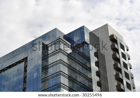 top of the modern business building - stock photo