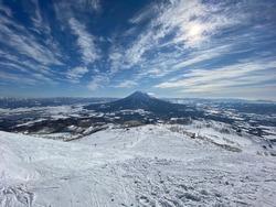 Top of the Mountain Snow Japan Niseko