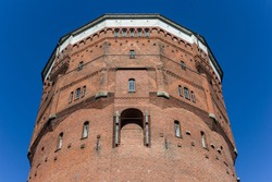 Top of the old water tower in the center of Wilhelmshaven, Germany