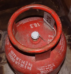 Top part of LPG Gas Cylinder or Domestic Cooking Gas Cylinder