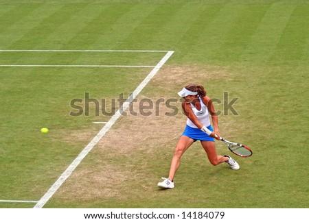 Top Polish woman tennis player Agnieszka Radwanska in action