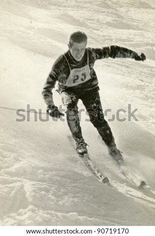 top rank skier - photo scan - about 1955