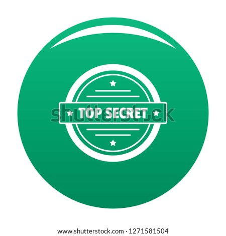 Top secret logo. Simple illustration of top secret logo for any design green